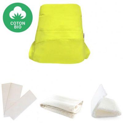 Kit couche en coton bio Green Banana 4 pièces (Taille S)  par Hamac Paris