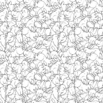 Papier Peint Motif Lapins Enchevetres 10 M Lilipinso