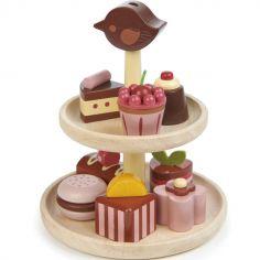 Gâteaux chocolat en bois