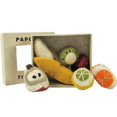 Set de 6 minis fruits en feutrine  par Papoose