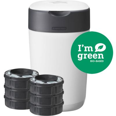 Starter pack bac à couches Twist & click blanc + 6 recharges  par Tommee Tippee