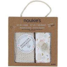 Lot de 2 langes en mousseline de coton bio Lina & Joy (100 x 100 cm)  par Noukie's