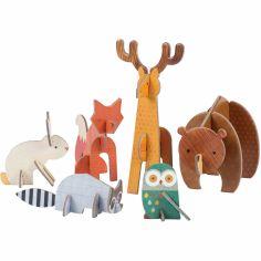 Les animaux de la forêt en 3D