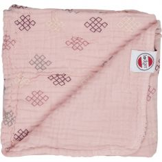 Couverture bébé en coton Dreamer Xandu Sensitive rose (120 x 120 cm)