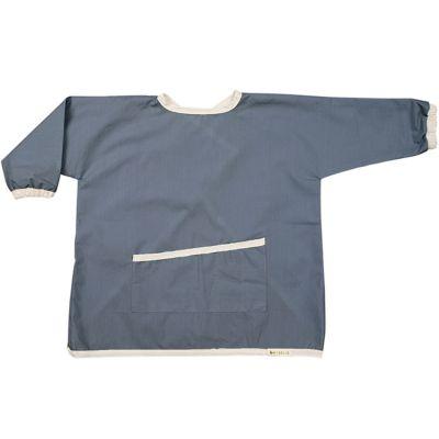 Bavoir à manches avec poche bleu épicéa  par Fabelab