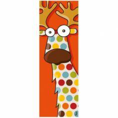 Tableau tête de caribou (20 x 60 cm)