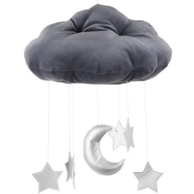 Mobile nuage gris graphite  par Cotton&Sweets