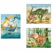 Set puzzle Mes 3 puzzles Dinosaures (45 pièces) - Haba