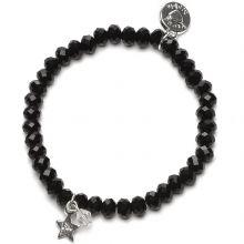 Bracelet Charm perles noires charm étoile  par Proud MaMa