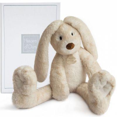 Peluche Lapin Fluffy aux longues jambes écru (38 cm) Histoire d'Ours