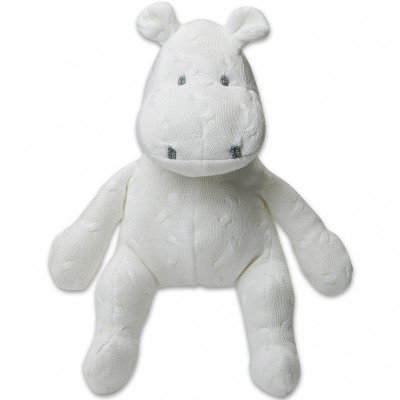 Peluche hippopotame Cable Uni blanc (35 cm) Baby's Only