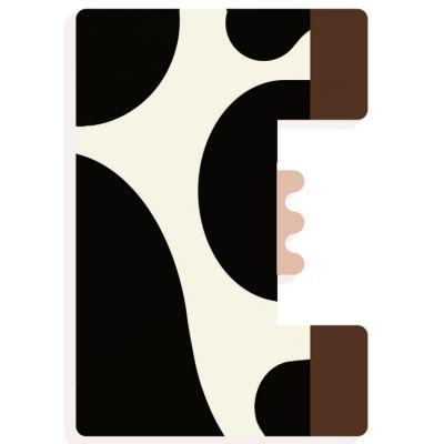 Lettre décorative vache E (coloris aléatoire) Djeco