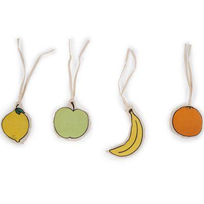 Lot de 4 activités à suspendre Gymtoys fruits en toile canvas  par Childhome