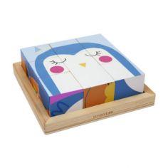 Puzzle cubes en bois zoo