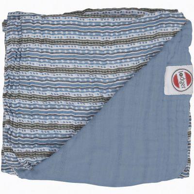 Couverture bébé en coton Dreamer Xandu Ocean rayure bleu (120 x 120 cm)  par Lodger