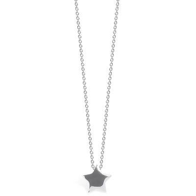 Collier chaîne 40 cm pendentif Full étoile 08 mm (argent 925°)  par Coquine