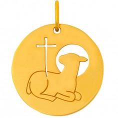 Médaille Esquisses Agneau Pascal 18 mm (or jaune 750°)