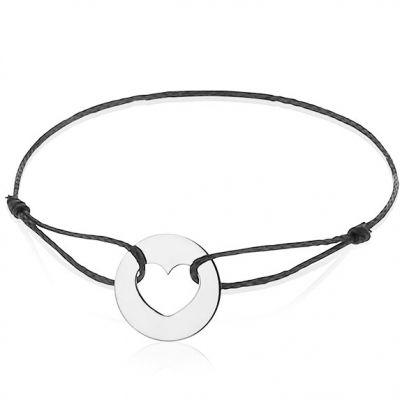 Bracelet cordon enfant Coeur (or blanc 750°)   par A.Augis