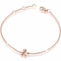 Bracelet sur chaîne Briciole garçon (or rose 750° et pavé de diamants)
