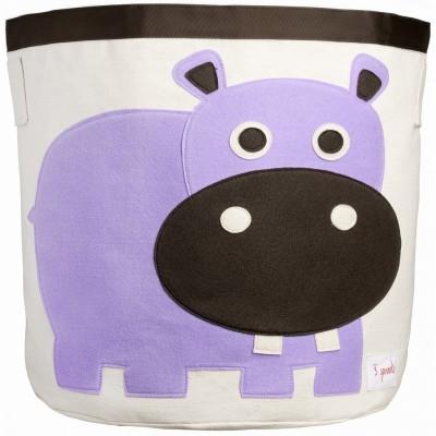 Sac à jouets Hippopotame  par 3 sprouts