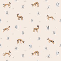 Papier peint intissé Les gazelles Tanzania (10 m)