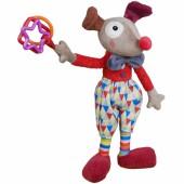 Peluche d'activités Alfred le clown Magic Circus (35 cm)    - Ebulobo