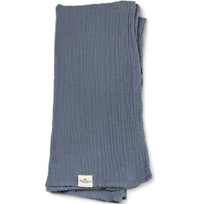 Lange en bambou et coton bleu Tender Blue (80 x 80 cm)  par Elodie Details