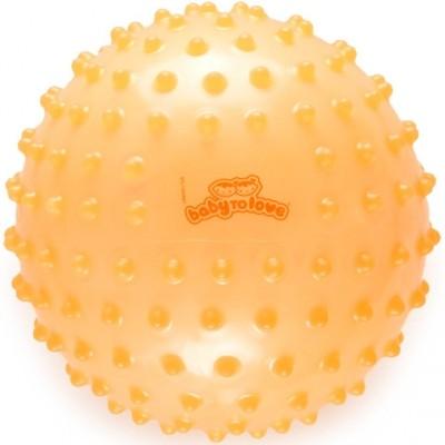 Balle tactile transparente orange  par BabyToLove