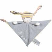 Doudou attache sucette Nin-Nin le lapin Les petits dodos personnalisable - Moulin Roty