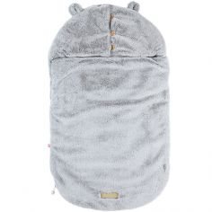 Nid d'ange passe sangle Sherpa Mix & Match gris clair