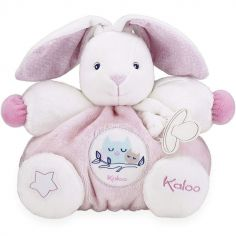 Doudou attache sucette Imagine Patapouf Lapinou rose (25 cm)