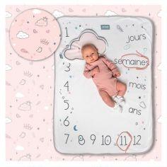 Couverture étapes de bébé Dusty pink