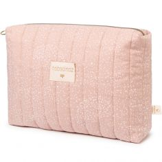 Trousse de toilette Travel rose White bubble