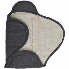 Couverture nomade jersey teddy gris foncé (0-3 mois)