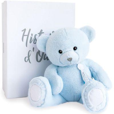 Peluche ours Charms bleu clair (40 cm)  par Histoire d'Ours