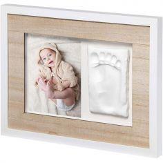 Cadre photo empreinte Tiny Style bois et blanc