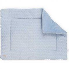 Tapis de jeu Fancy knit bleu layette (80 x 100 cm)