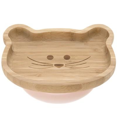 Assiette ventouse en bambou souris Little Chums  par Lässig
