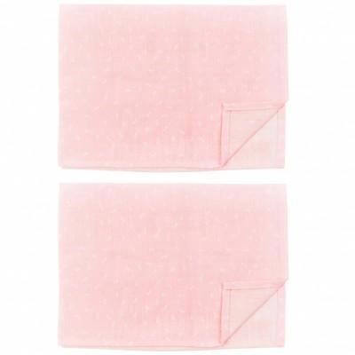 Lot de 2 maxi langes en mousseline Pink Bows (110 x 110 cm)  par Les Rêves d'Anaïs