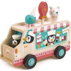 Chariot de crème glacée pingouins
