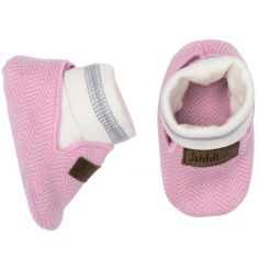 Chaussons Cottage rose (0-3 mois)