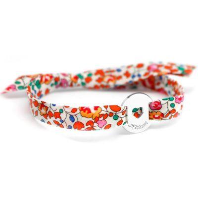 Bracelet Liberty ruban coeur personnalisable (argent 925°)  par Petits trésors