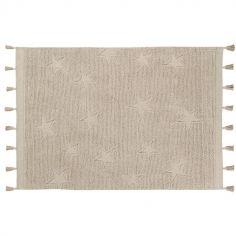 Tapis Hippy Stars naturel (120 x 175 cm)