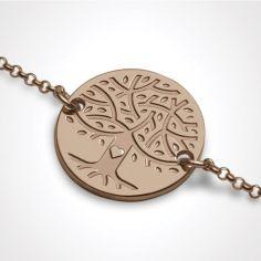 Bracelet sur chaîne LOVETREE personnalisable (or rose 750°)