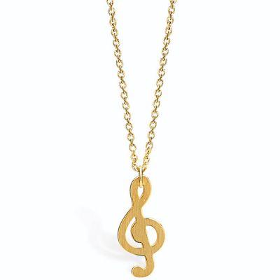 Collier clef de sol (vermeil doré)  par Coquine