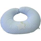Coussin d'allaitement bleu Lunes et étoiles - Tuc Tuc