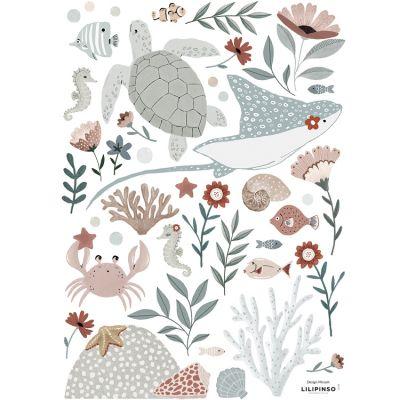 Planche de stickers A3 Ocean dream  par Lilipinso
