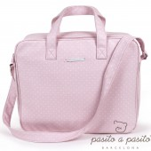 Valisette de maternité Atelier rose à pois blanc - Pasito a pasito