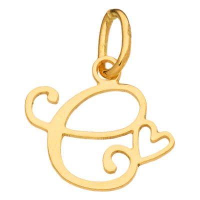 Pendentif initiale C (or jaune 750°)  par Berceau magique bijoux