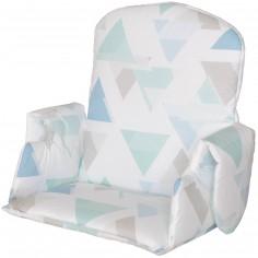 Coussin de chaise haute en tissu avec accoudoir prisme